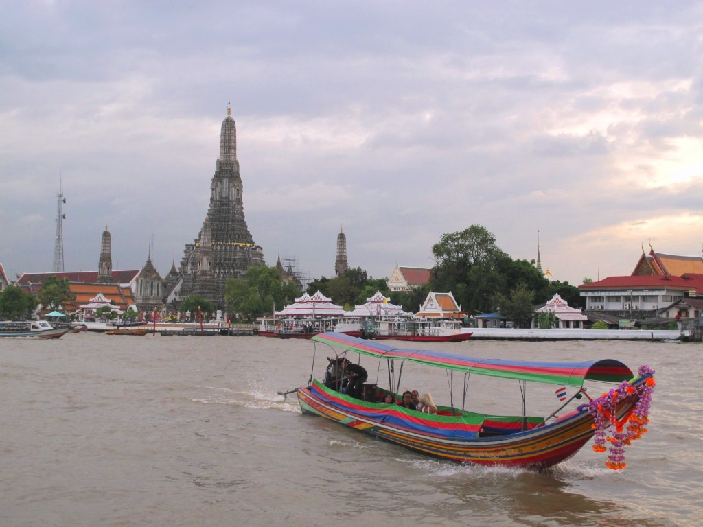 Chao Phraya River with Wat Arun in the background