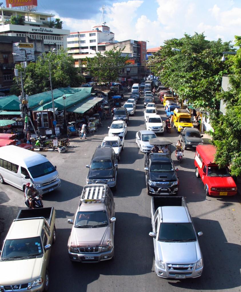 modern city with modern traffic